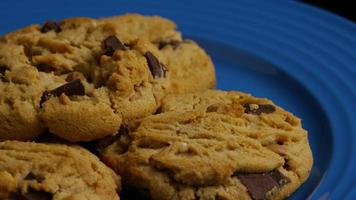 Cinematic, Rotating Shot of Cookies on a Plate - COOKIES 371 video