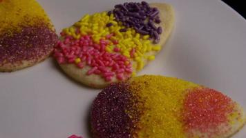 Cinematic, Rotating Shot of Easter Cookies on a Plate - COOKIES EASTER 010 video