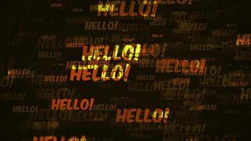 Hallo Nachricht Hintergrundschleife video