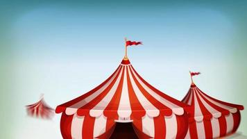 bucle de fondo de circo grande