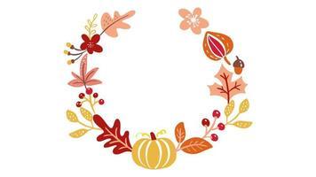 Calligraphy lettering animation text Hello Autumn.