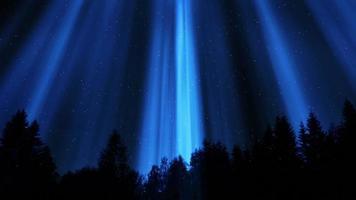 luz mística en la noche