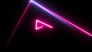 azul neón y rosa se ejecutan en triángulos.