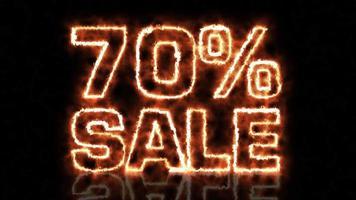 venda de setenta por cento quente