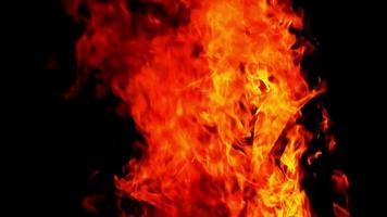 fuerte fuego de madera