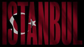 Turkey Flag With Istanbul Mask