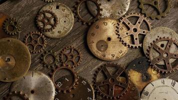 Imágenes de archivo giratorias tomadas de caras de relojes antiguas y desgastadas: caras de relojes 096