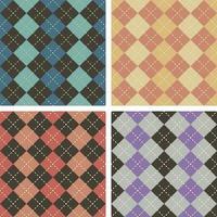 Conjunto de patrones sin fisuras de argyle vector