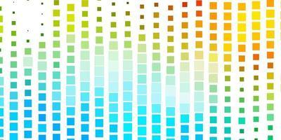 plantilla de vector azul claro, verde en rectángulos.