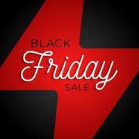 Black Friday Flash big sale square poster. Graphic vector design of business banner vector illustration. Shop promotion label. Marketing event advertisement.