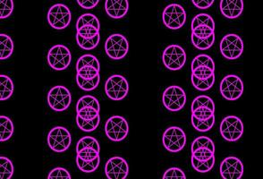 Dark Purple, Pink vector backdrop with mystery symbols.