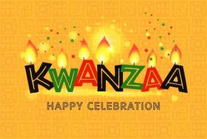 Banner for Kwanzaa with traditional colors
