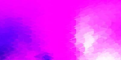 Light purple, pink vector triangle mosaic backdrop.