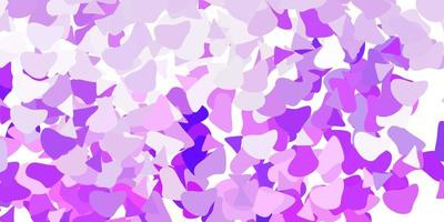 patrón de vector púrpura claro con formas abstractas.