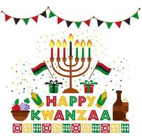 Banner for Kwanzaa with traditional candles