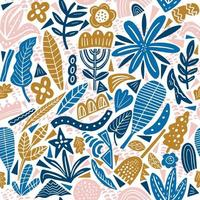 Collage style seamless repeat pattern vector