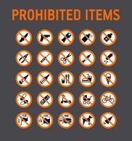 colección de señales de prohibición vector