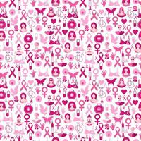 Seamless pattern of breast cancer for october awareness month.