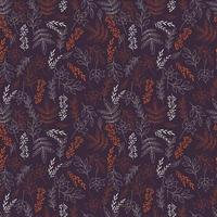 Autumn seamless pattern with floral decorative elements, colorful design. vector