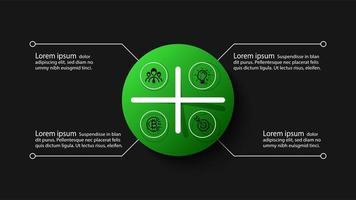 Circle infographic design