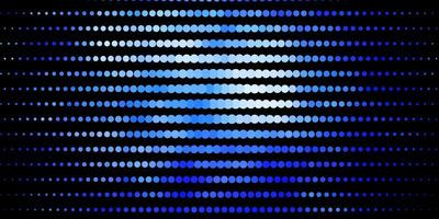 Dark BLUE vector backdrop with dots.