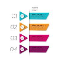 4 steps triangle design set