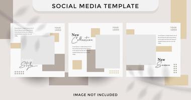 Modern Social Media fashion template sale set
