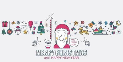 Santa claus andchristmas icons
