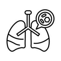 icono de línea de coronavirus, medicina y ciencia