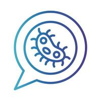 Coronavirus, medicine and science line icon