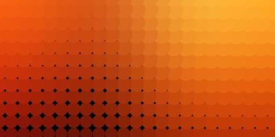 Dark Orange vector backdrop with dots.