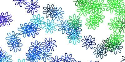 Light Blue, Green vector natural layout with flowers.