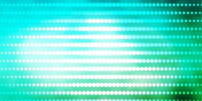Light Blue, Green vector background with circles.