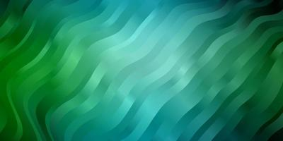 Light Blue, Green vector pattern with curved lines.