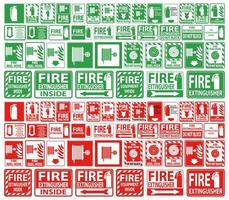 Set of Fire extinguisher Signs vector