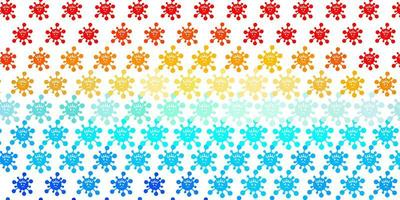 Light Blue, Red vector pattern with coronavirus elements
