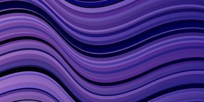 telón de fondo de vector púrpura claro con curvas.