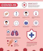 covid 19 consejos de prevención de virus diseño vectorial vector