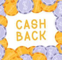dinero en efectivo dólar cayendo vector de explosión. Ilustración de monedas de oro de dibujos animados plana. diseño de monedas financieras. moneda aislada