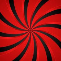 Fondo radial de remolino espiral negro y rojo. fondo de vórtice y hélice. ilustración vectorial vector