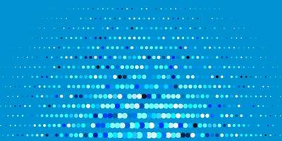 Dark BLUE vector background with bubbles.