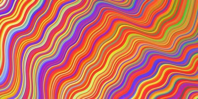 Light Multicolor vector backdrop with bent lines.