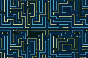 Fondo de tecnología de patrón abstracto de circuito de línea