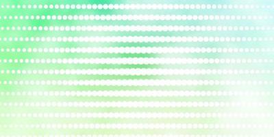 plantilla de vector verde claro con círculos.