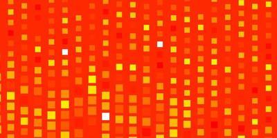 telón de fondo de vector naranja claro con rectángulos.