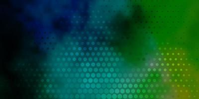 Light Blue, Green vector background with bubbles.