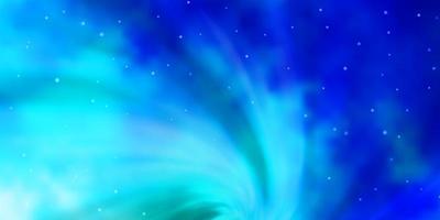 patrón de vector azul claro, verde con estrellas abstractas.