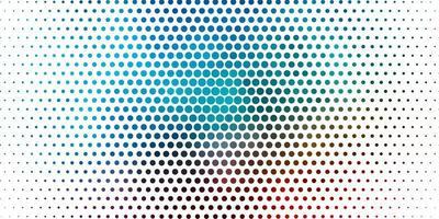 plantilla de vector azul claro, rojo con círculos.