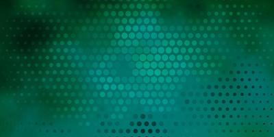 Light Green vector background with bubbles.