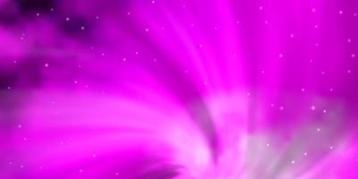 Light Pink vector background with colorful stars.